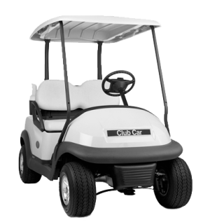 Golfcarisolated